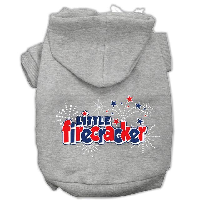 Little Firecracker Screen Print Pet Hoodies Grey Xxxl(20) - image 1 of 1