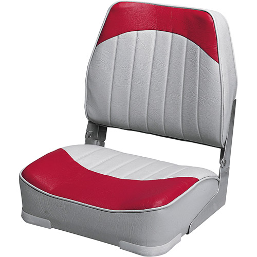 Wise 8WD734PLS-661 Low Back Boat Seat, Grey / Red
