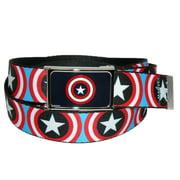 Big & Tall Marvel Captain America Shield Adjustable Belt
