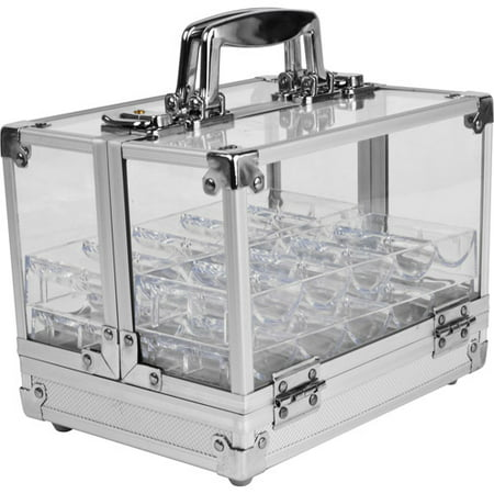 Trademark Poker 600 Chip Capacity Acrylic Case With 6 Trays