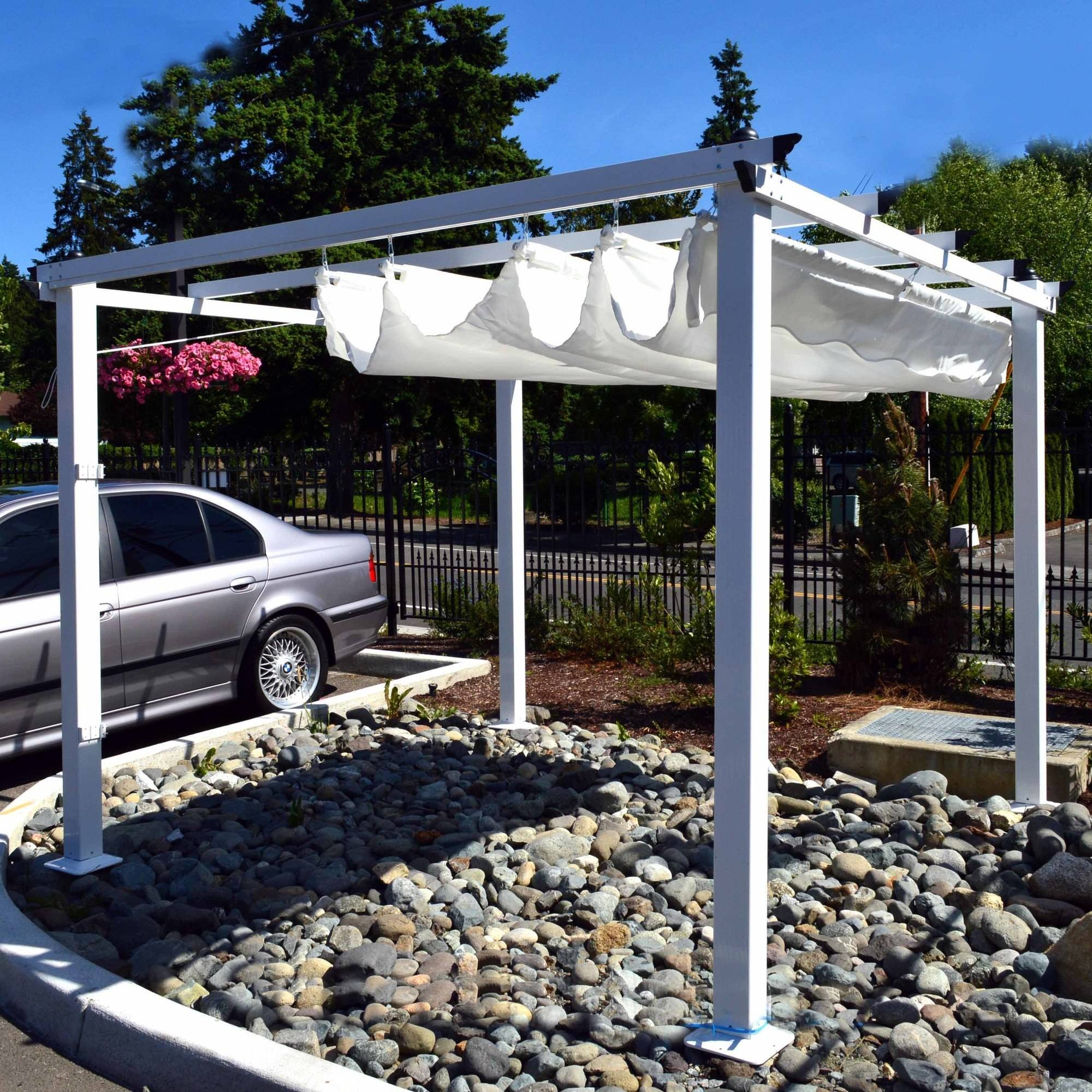 ALEKO 10 x 10 Feet Grape Trellis Pergola Outdoor Canopy Gazebo White - Walmart.com & ALEKO 10 x 10 Feet Grape Trellis Pergola Outdoor Canopy Gazebo ...