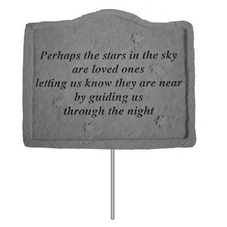 Perhaps The Stars In The Sky Memorial Garden Stake