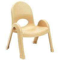 Angeles 9 in. Kids Stacking Chair in Natural Tan