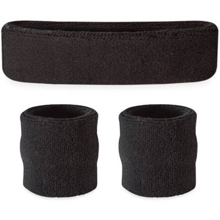 Suddora Sweatband Set - (1 Headband and 2 Wristbands) High Quality Cotton for Sports & More](Dance Wristbands)