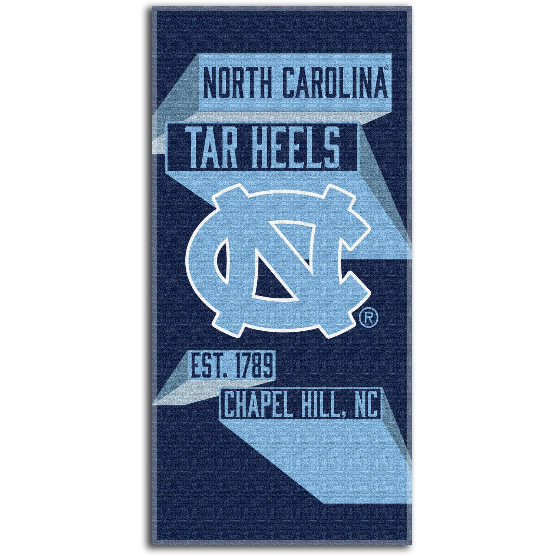"""NCAA """"Head Strong"""" 30"""" x 60"""" Beach Towel, North Carolina Tar Heels"""