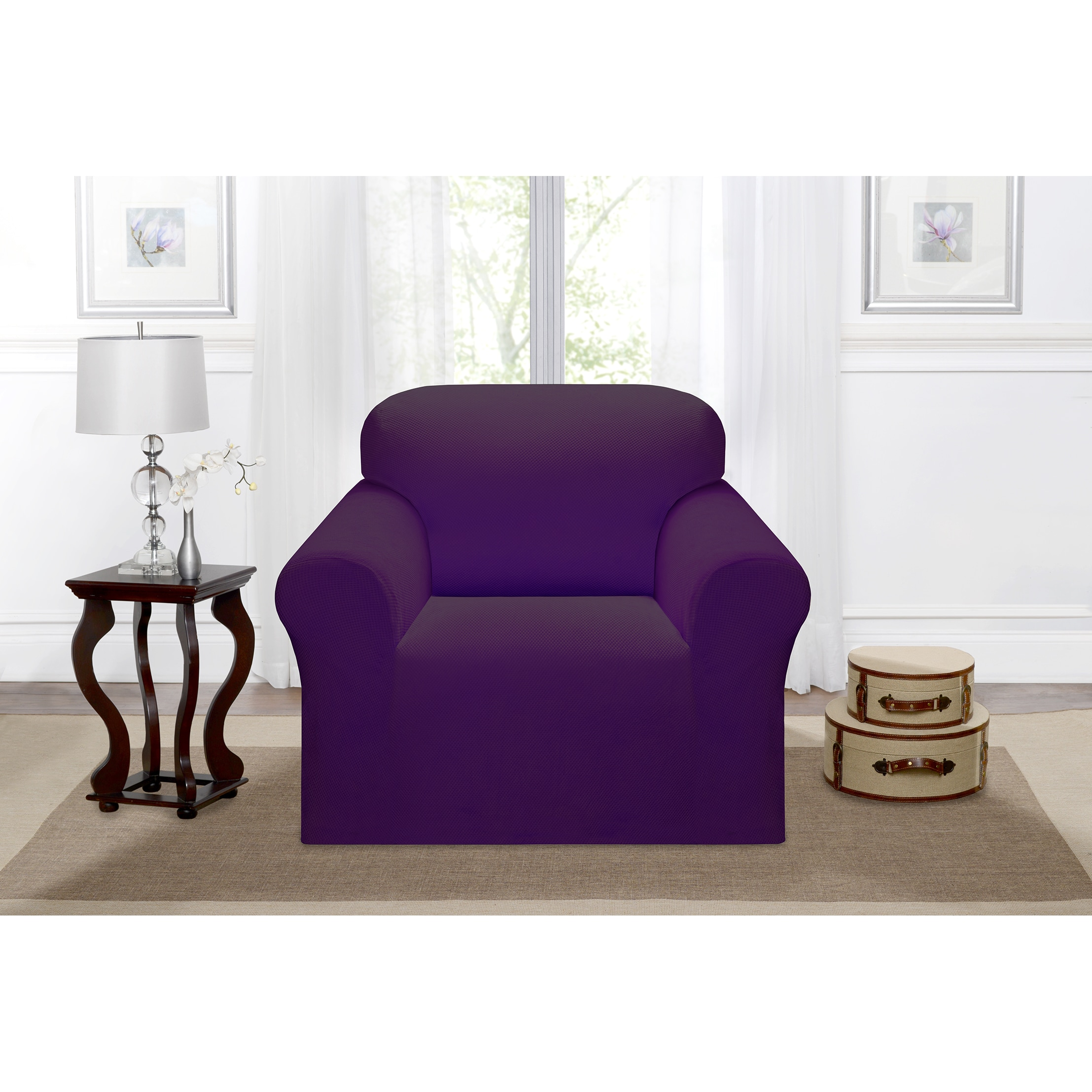 Madison Industries Inc. Stretch Pique Chair Slipcover