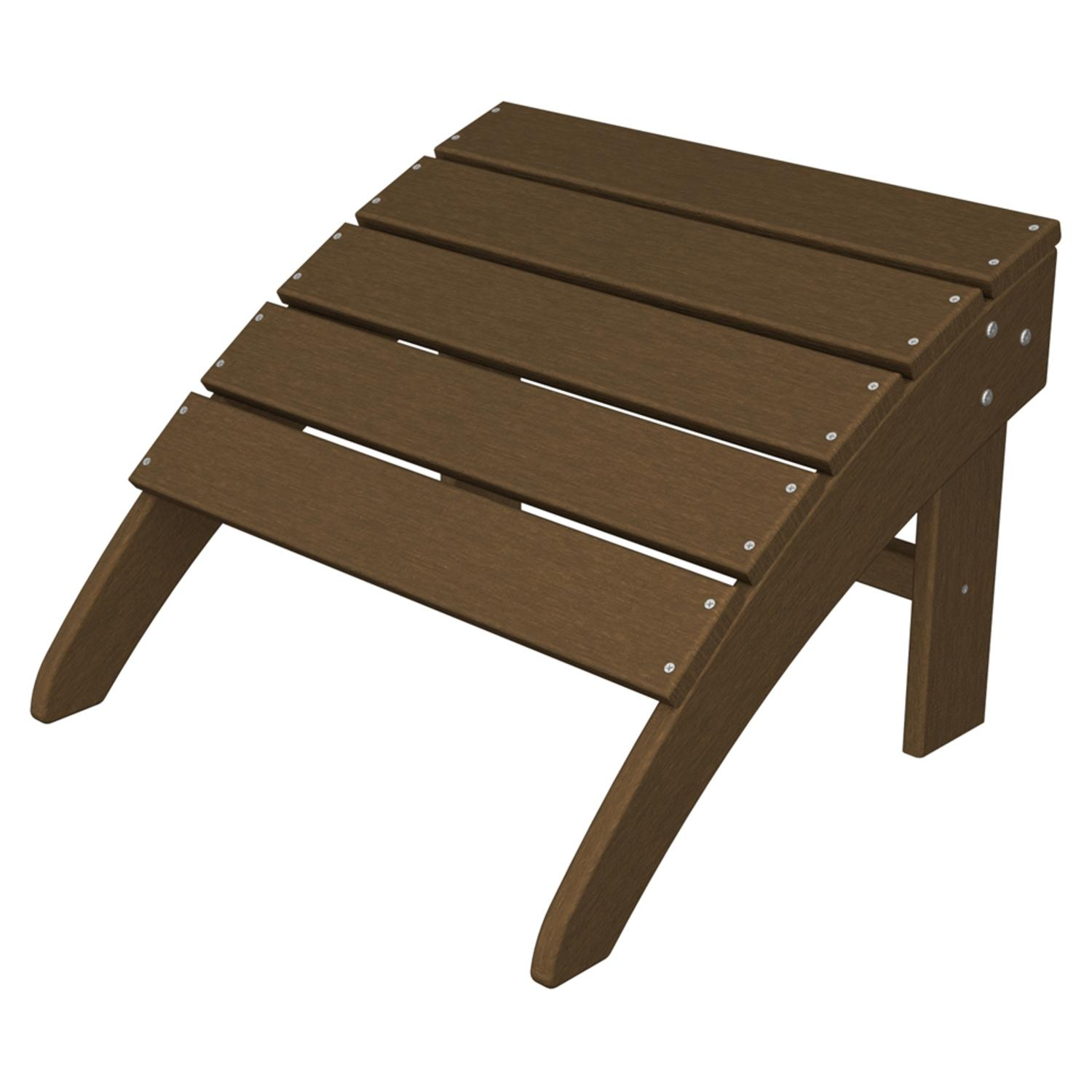 "19"" Recycled Venice Beach Outdoor Patio Adirondack Ottoman - Raw Sienna"