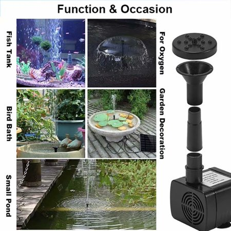 180L/H Solar Water Pump for Garden Pool Pond Fountain Aquarium - image 6 of 9