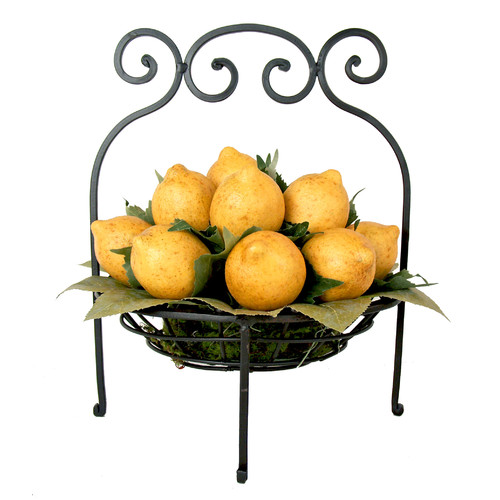 Creative Displays, Inc. Lemons in Scrolled Iron Basket