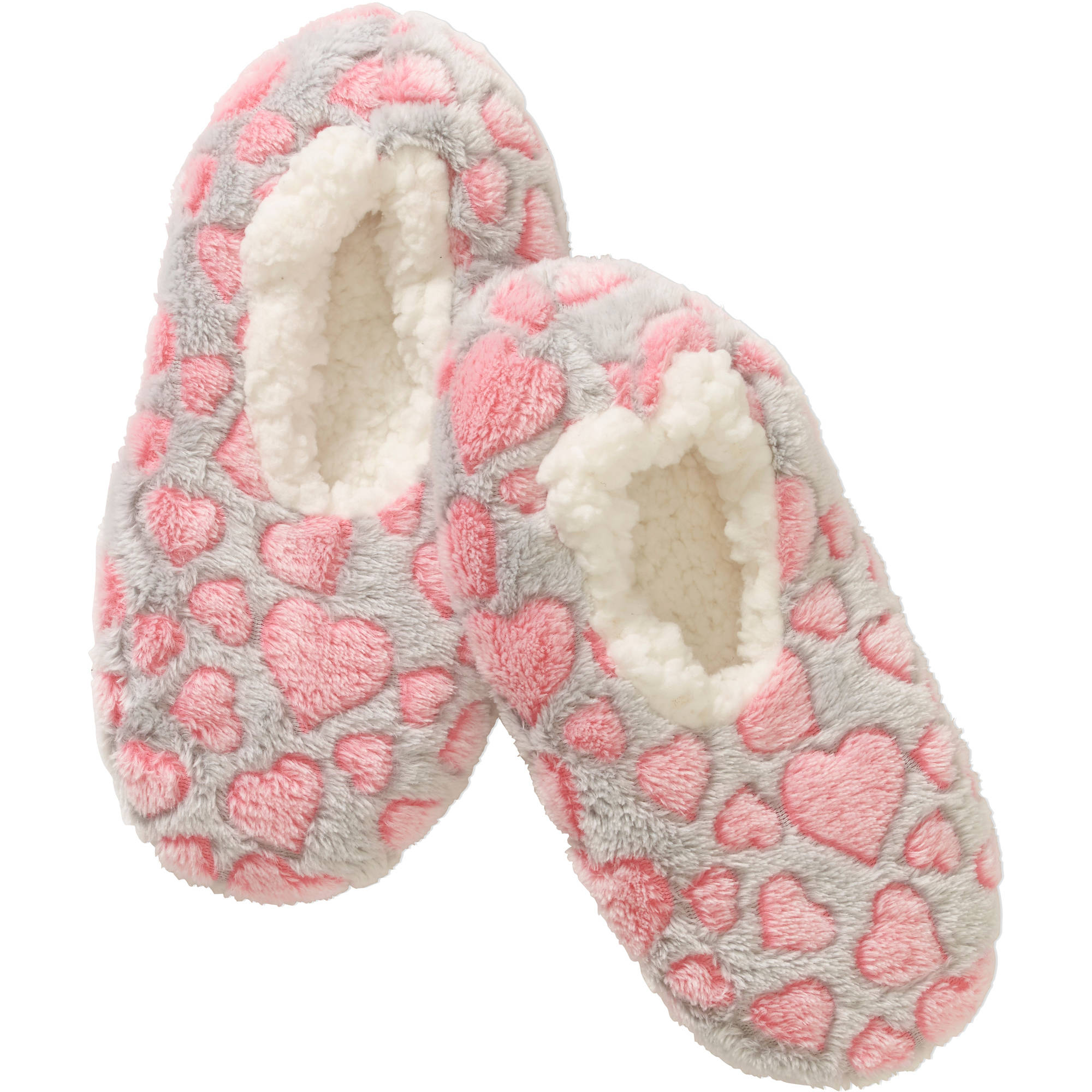 Dreamy Babba Heart Print Glow-in-the-Dark Slipper Socks