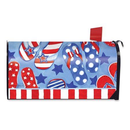 Summer Fun Patriotic Magnetic Mailbox Cover Flip Flops Briarwood Lane Blossoms Magnetic Mailbox Cover