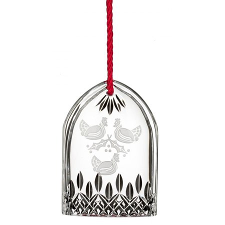 (Waterford Annual 12 Days of Christmas Lismore Three French Hens Crystal Ornament)