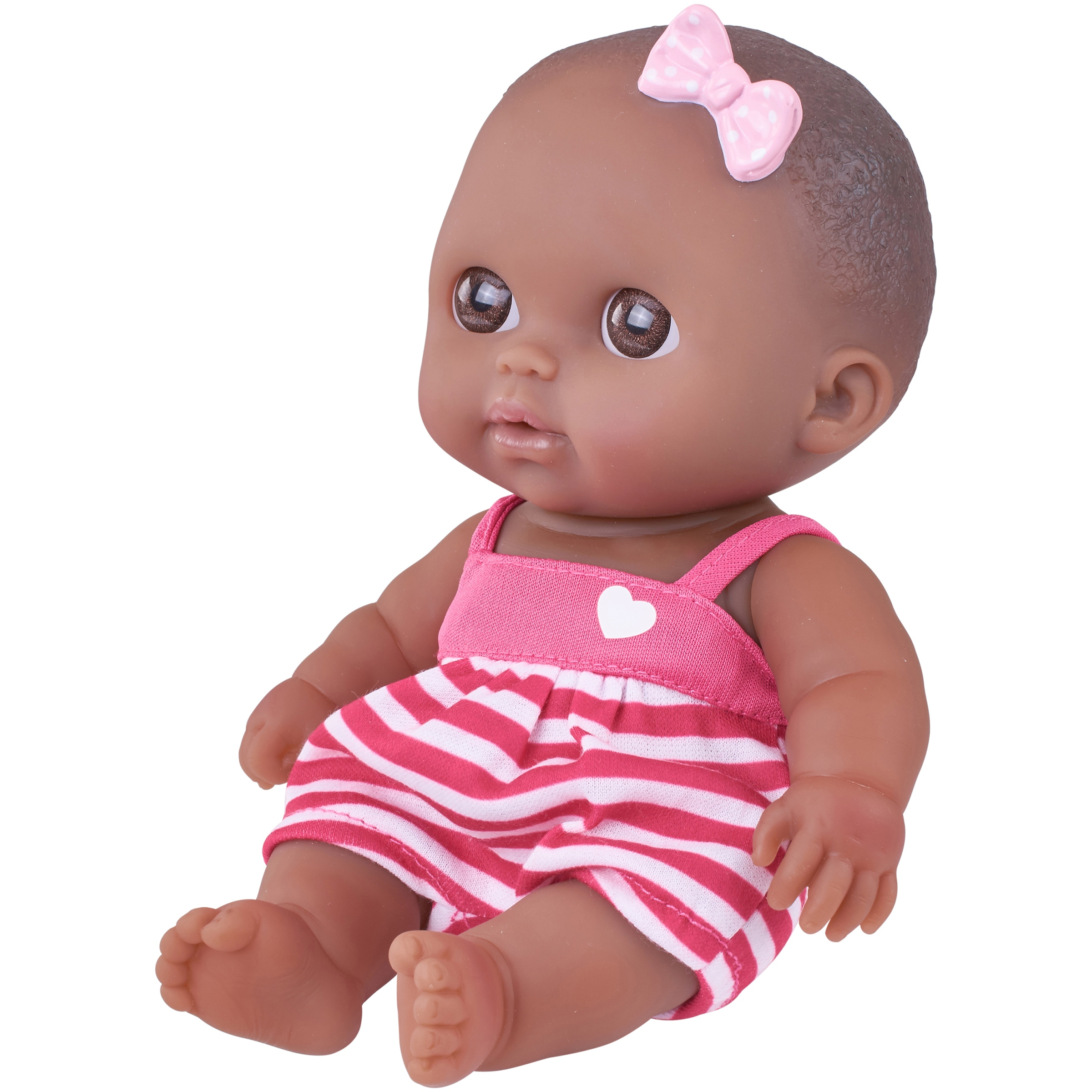 "My Sweet Love Lil Cutsies 8.5"" Baby Doll with Pink and White Outfit"