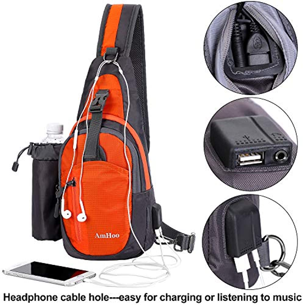 Travel//Hiking Chest Sling Bag Crossbody Backpack Casual Daypack Backpacks for Mens and Womens Vulpix Ice and Fir Shoulder Bags