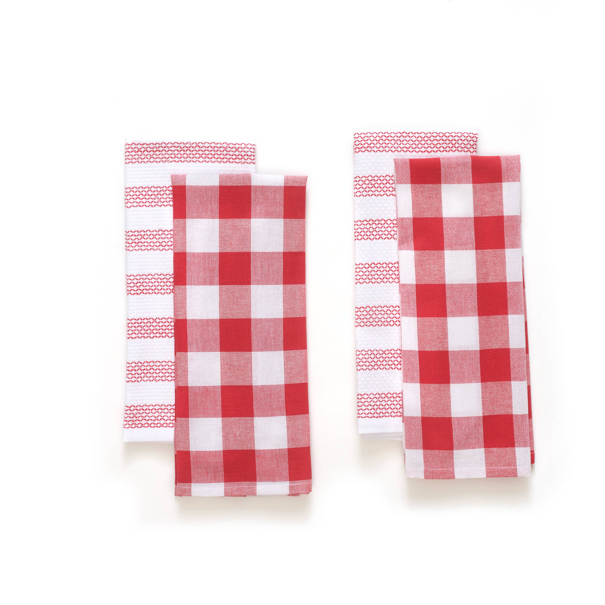 The Pioneer Woman Honeycomb Kitchen Towel Set, 4pk, Stripe