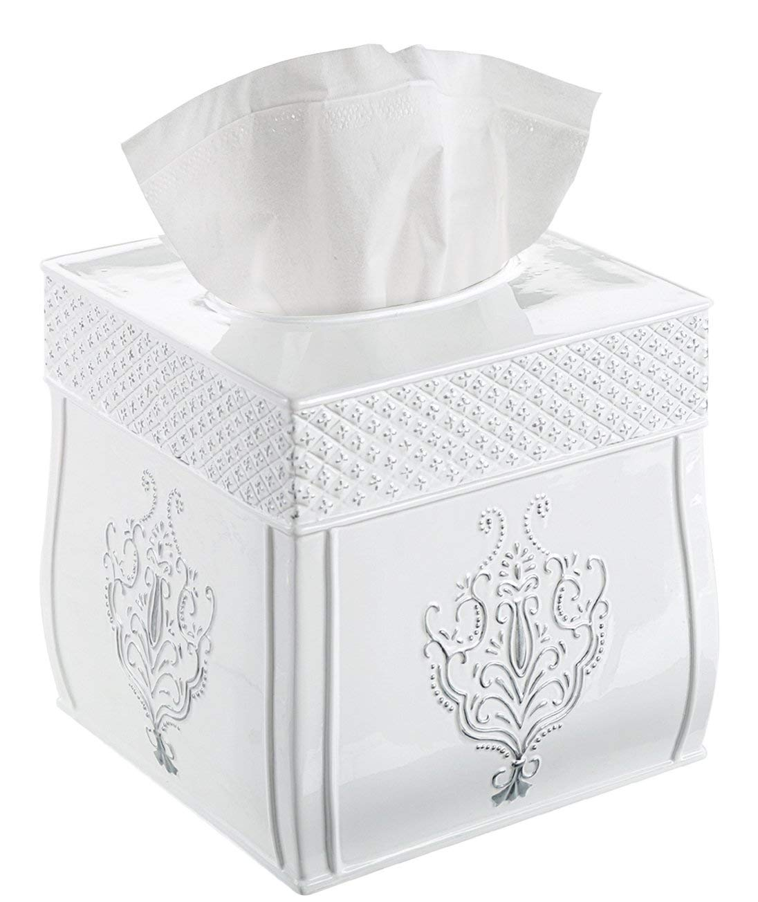 Square Tissue Box Cover – Decorative Tissue Holder is ...