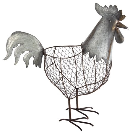 A&B Home Metal Wire Rooster Basket