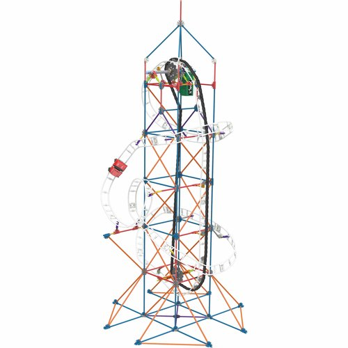 K'NEX Amusement Park Series Space Assortment, Star Shooter Coaster/Amazin' 8 Coaster/Super Sonic Swirl