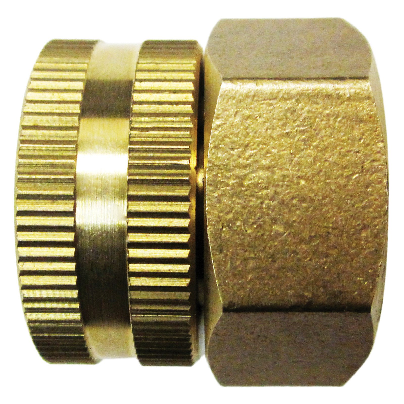 Dual Swivel Brass Connector 3/4\