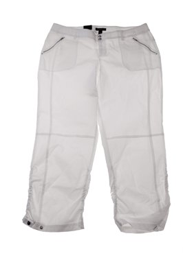 da7a797f8bb Product Image Inc International Concepts Plus Size White Ruched Zip-Pocket  Pants 24W