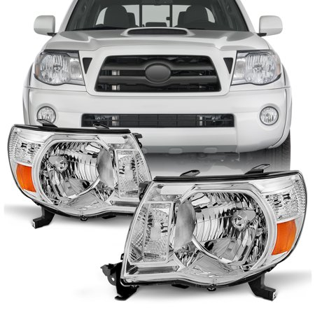Fits 2005-2011 Toyota Tacoma Headlights Lamps Lights LH+RH 05 06 07 08 09 10 11 Toyota Replacement Headlamp