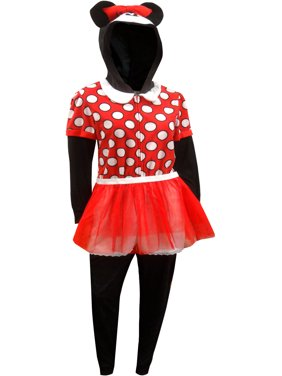 81899a40d Product Image Minnie Mouse Fleece One Piece Pajamas With Hood and Skirt