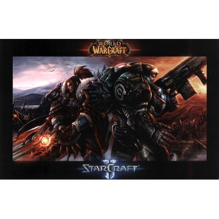World of Warcraft Starcraft II Video Game Gaming Poster 17x11 inch ()