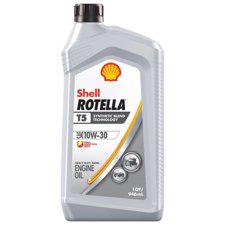 Shell Rotella T5 10W-30 Synthetic Blend Diesel Engine Oil, 1 (Best Oil For Small Engines)