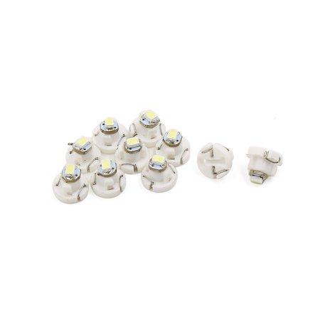 Unique Bargains 10 Pcs T3 3020 SMD 1- White Dashboard Dash Lamp Indicator Light Bulb Interior