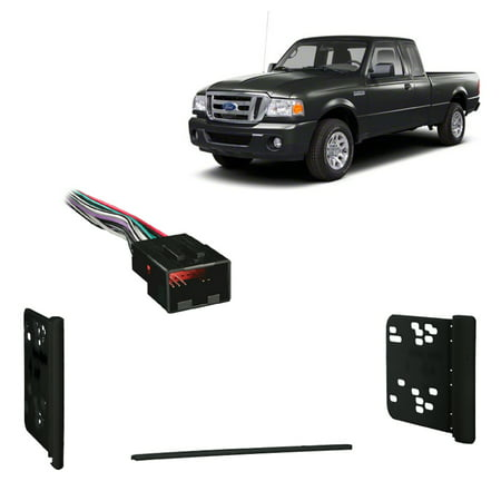 Fits Ford Ranger 1998-2011 Double DIN Stereo Harness Radio Install  Ford Ranger Radio Wiring Harness on 2011 ford ranger speaker harness, 2011 ford ranger mpg, 2011 ford ranger fuse box diagram, 2011 ford ranger radio fuse,