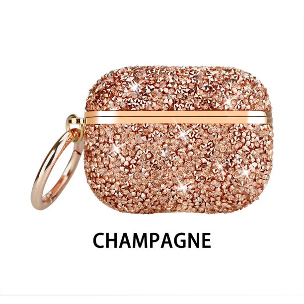 Airpods Pro Case Luxury Glitter Hard Cover Shockproof Protective Airpod Accessories With Keychain For Apple Airpods Pro Charging Case Rose Gold Walmart Com Walmart Com