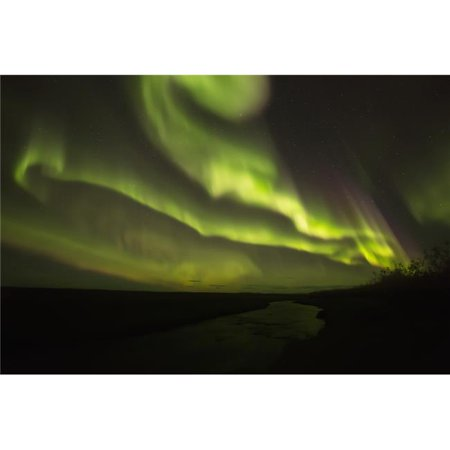 Northern Lights Or Aurora Borealis - Iceland Poster Print by Robert Postma, 38 x 24 - Large - image 1 de 1