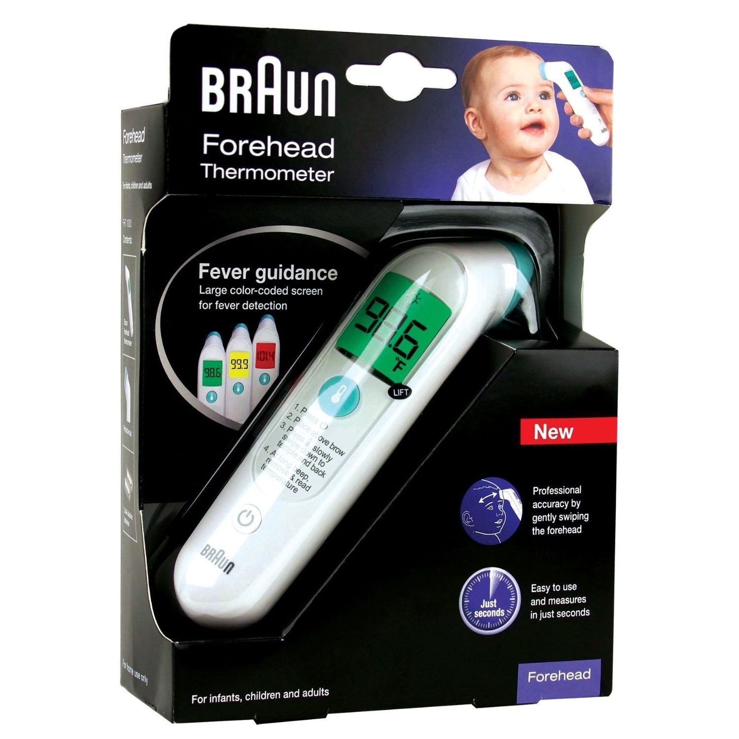 Braun Forehead Thermometer, 1.0 CT