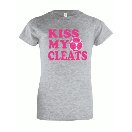 Youth Girls Soccer T-Shirt Kiss My Cleats