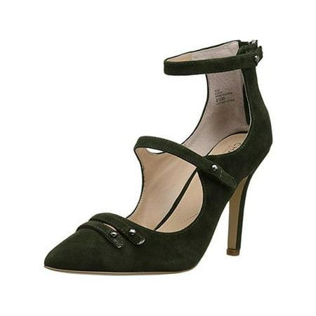 Charles By Charles David Womens Mac Suede Almond Toe Dress Heels