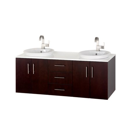 Wyndham collection arrano 55 inch double bathroom vanity - 52 inch bathroom vanity double sink ...
