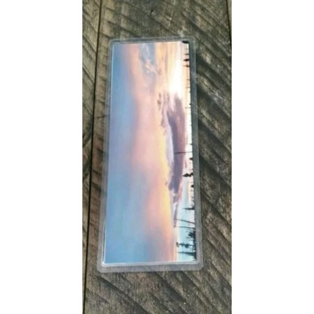 Picture Bookmark Laminated Marker Handmade Sunset Lake Clouds Sky Color Utah