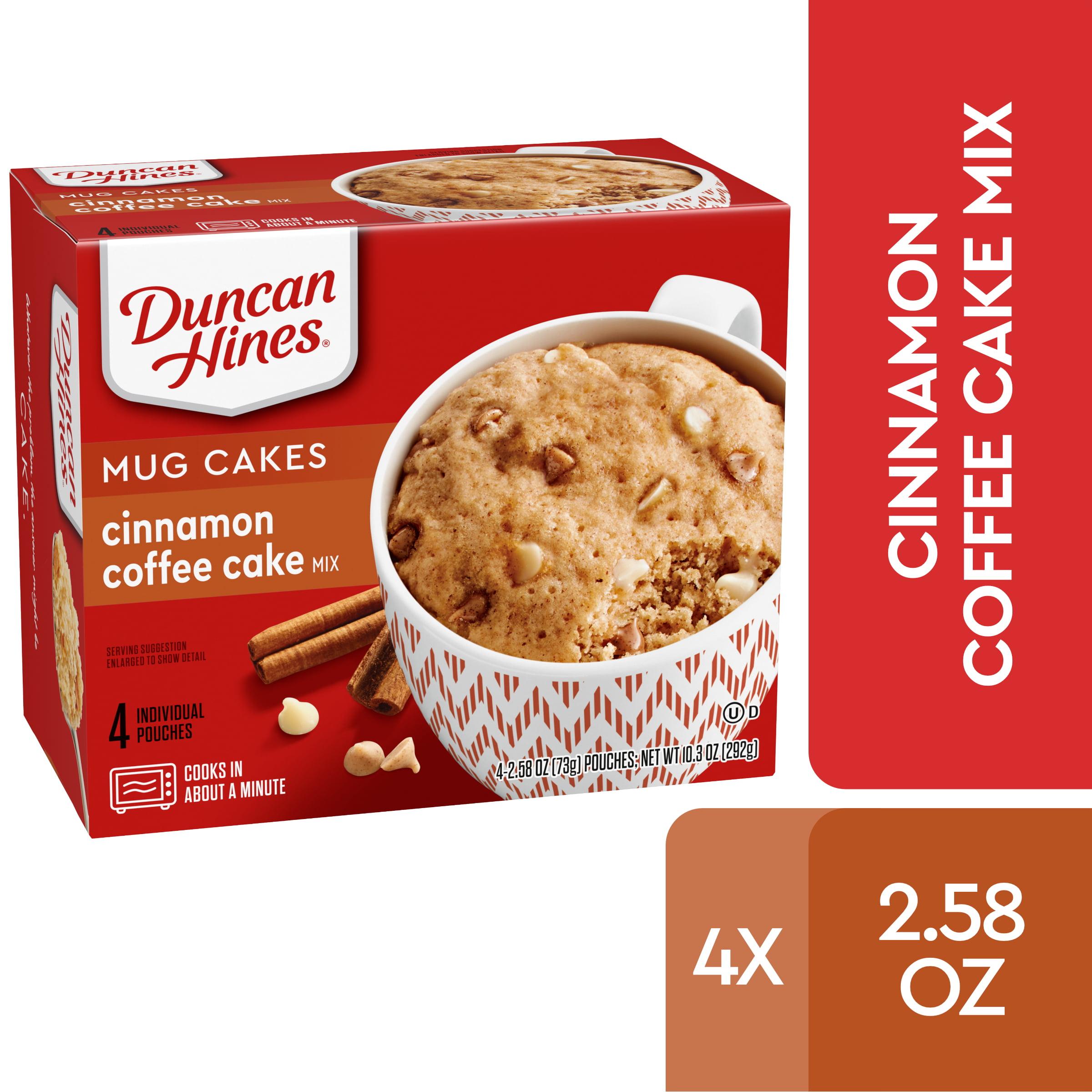 Duncan Hines Mug Cakes Cinnamon Coffee Cake Mix 4 - 2.58 OZ Pouches