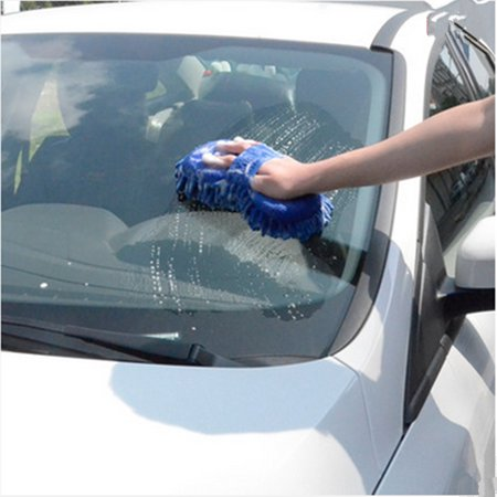 Microfibre Chenille Cleaning Supplies Coral Car Wash Gloves Car Cleaning Sponges Car Washer Supplies Dark Blue/Rose - image 1 de 6