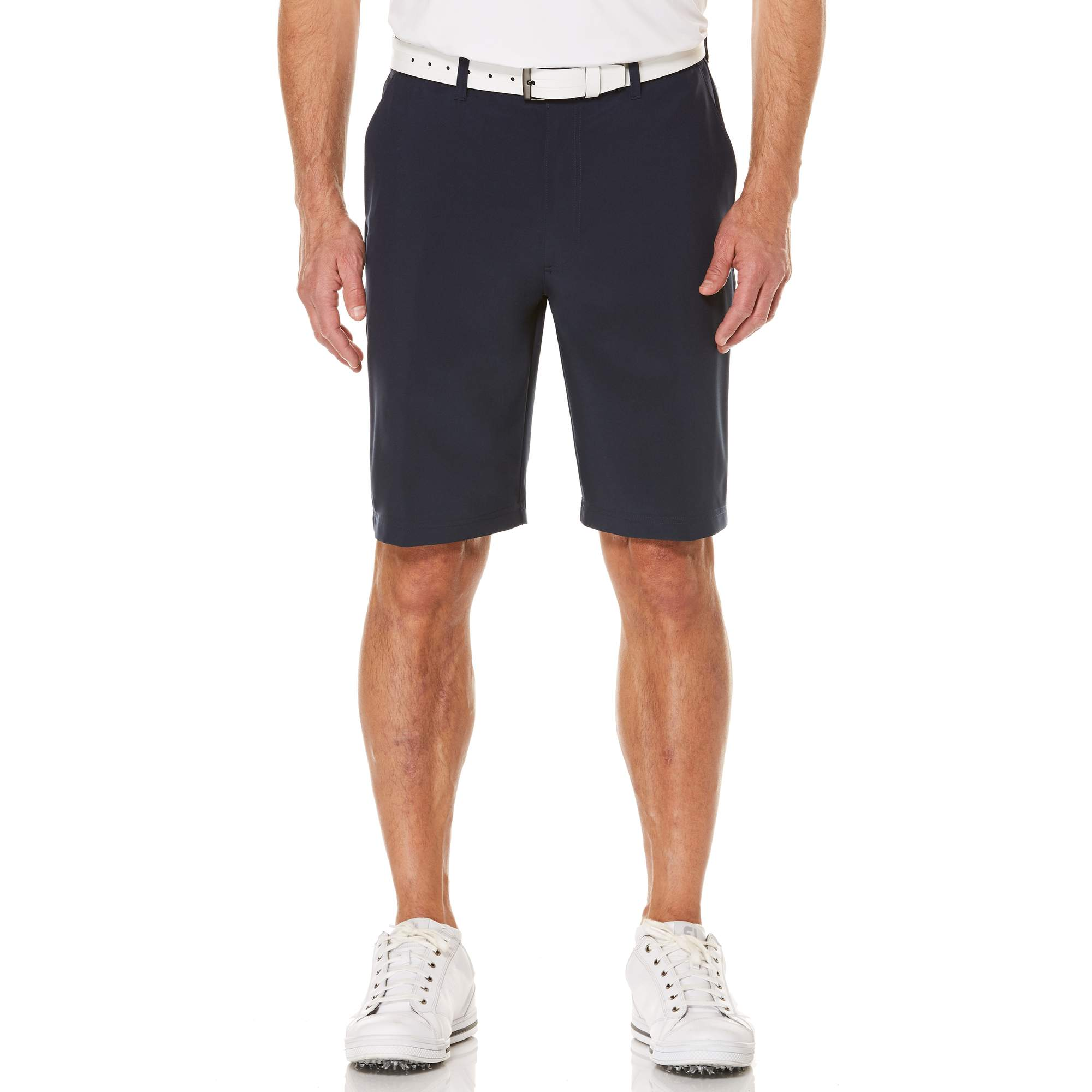 Men's Performance Flat Front Active Flex Waistband Four Way Stretch Shorts