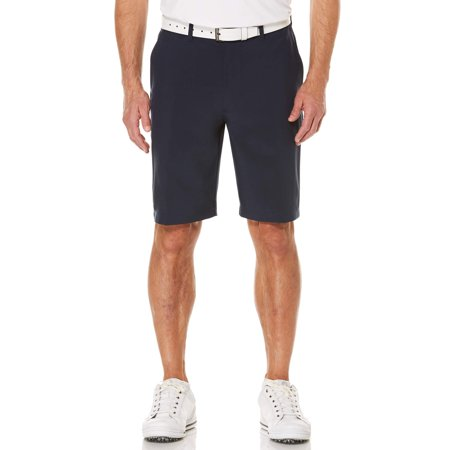 Men's Performance Flat Front Active Flex Waistband Four Way Stretch - Blue Chino Shorts