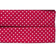 Bacati - MixNMatch Pin Dots Crib/Toddler Bed Sheets 100% Cotton Percale, Red, 2-Pack