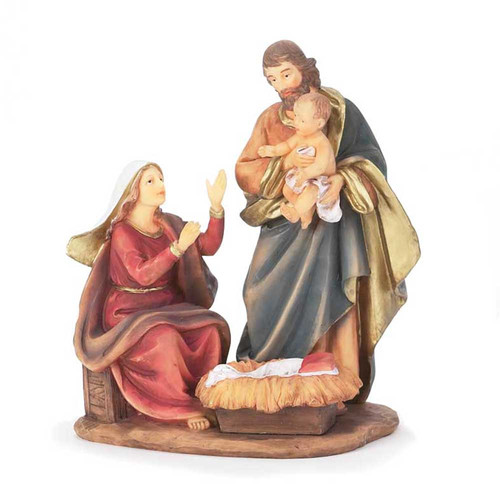 Dicksons Inc Holy Family Nativity Scene with Joesph Holding Baby