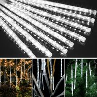 30cm 144 LED Meteor Shower Rain Lights 8 Tubes Falling Rain Light Drop Christmas Light Icicle String Light for Garden Holiday Party Wedding Christmas Tree Decoration