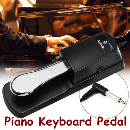 Universal Sustain Pedal with Piano Style Action for Electronic Piano