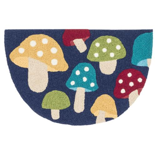Hand-hooked Marcy Navy  Multi Mushroom Hearth Rug (1'9 x 2'9) by Overstock