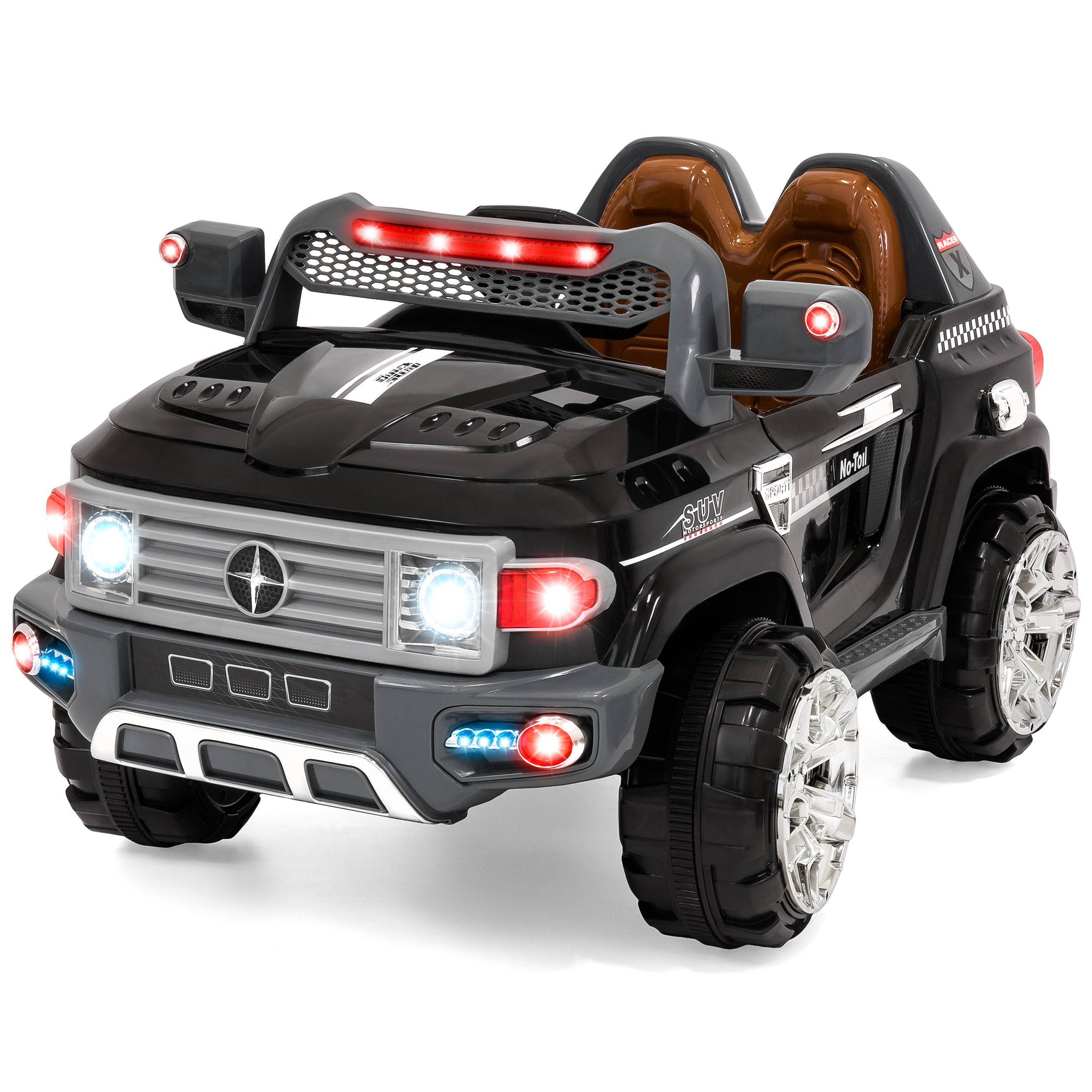12V MP3 Kids Ride on Truck Car RC Remote Control, LED Lights, AUX and Music by