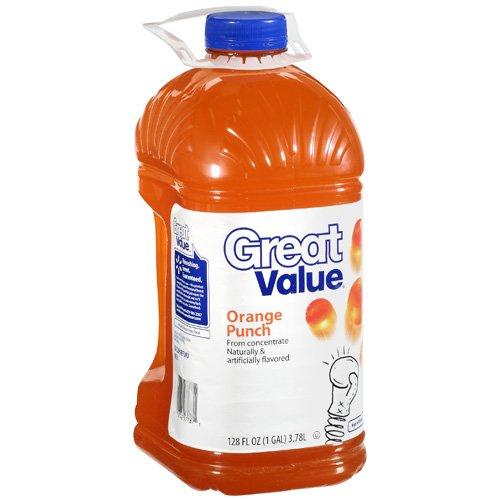 Great Value Orange Punch, 128 fl oz