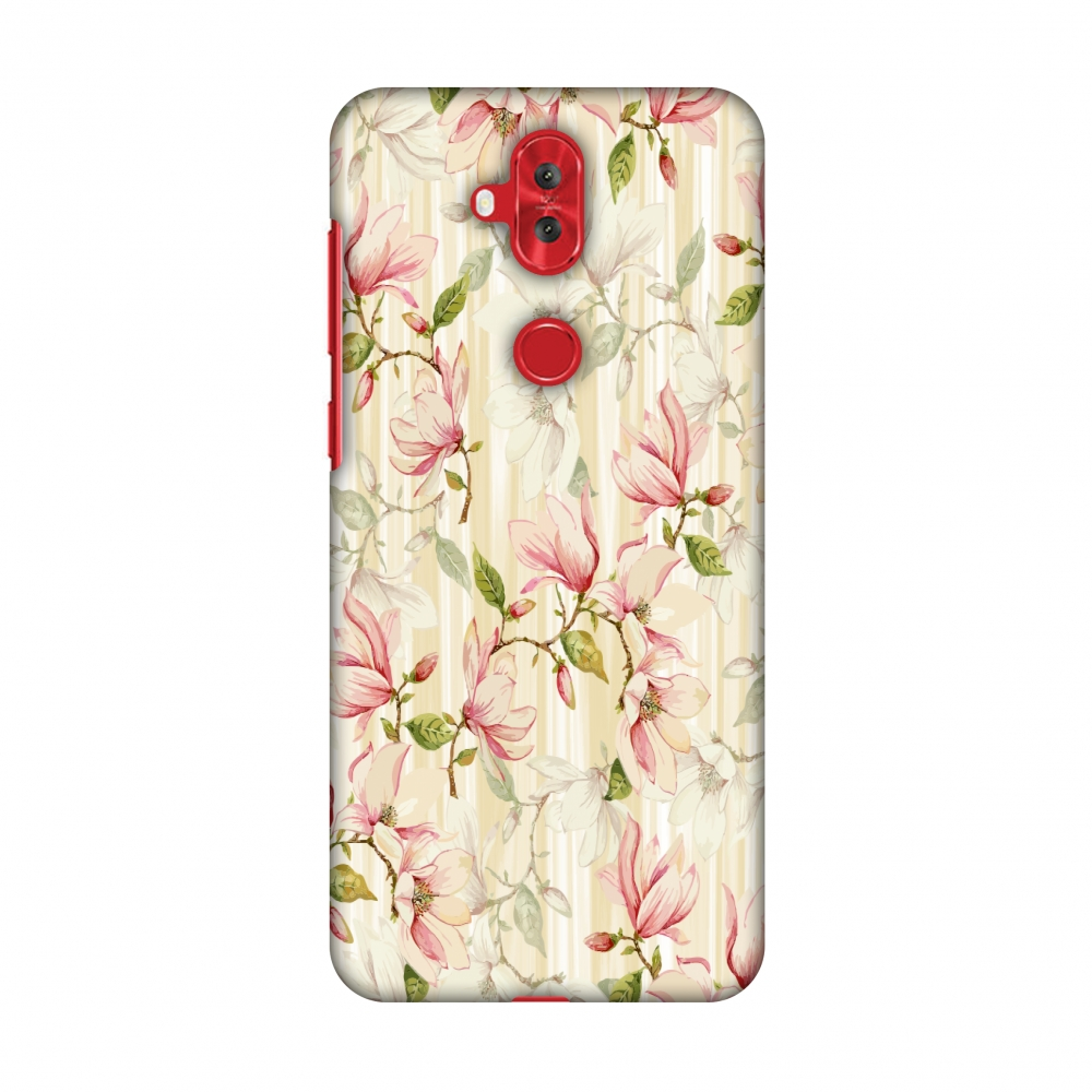 Asus Zenfone 5 Lite ZC600KL Case - Flowers and buds- Honey, Hard Plastic Back Cover, Slim Profile Cute Printed Designer Snap on Case with Screen Cleaning Kit