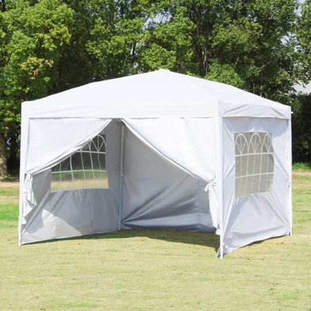 Clearance!Outdoor Party Tent with 4 Side Walls, 10' x 10' White Patio Gazebo Tent for Outside, 2020 Upgraded Sunshade Shelter Gazebo Canopy, Waterproof Outdoor Gazebo Tent for Backyard Wedding, I7412